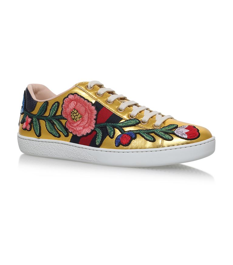 GUCCI New Ace Flower Sneakers at Harrods