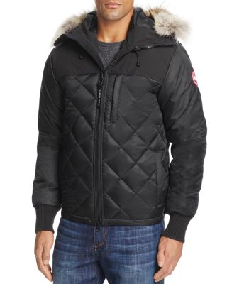 CANADA GOOSE Pritchard Diamond Quilted Coat in Black/Black