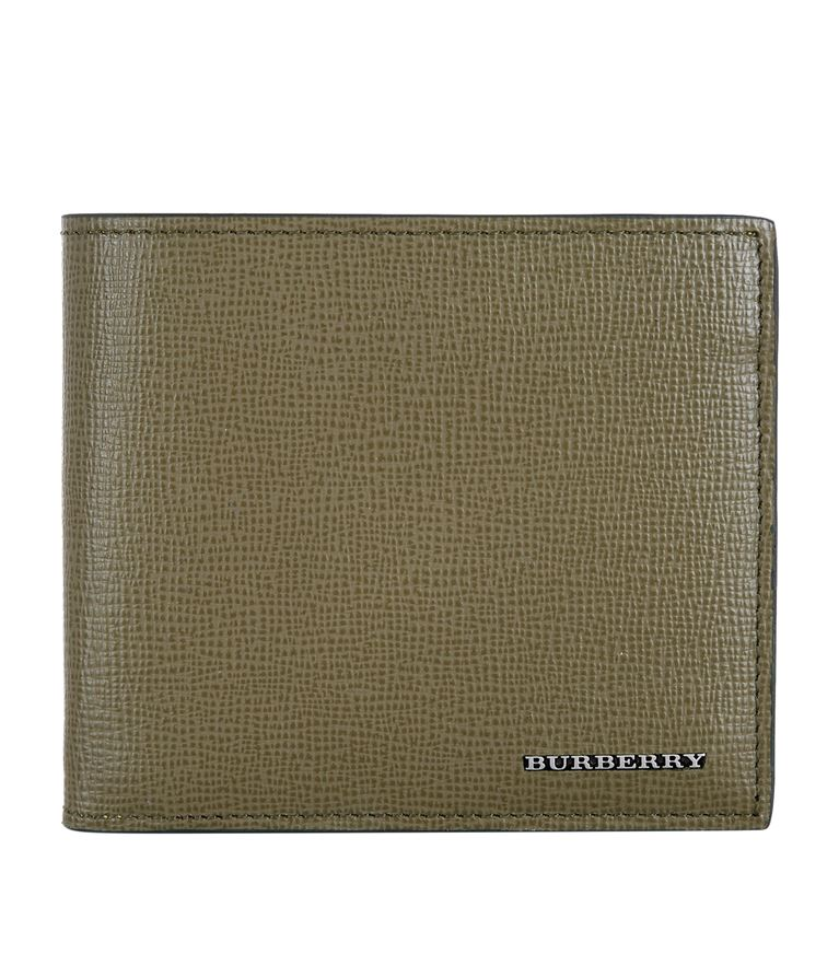 BURBERRY Bi-Fold Leather Wallet in Green