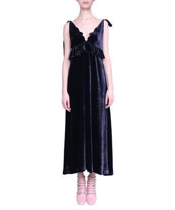 VIVETTA Argo Velvet Dress in Blu