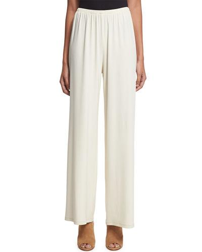 THE ROW Lala Wide-Leg Pants, Ivory