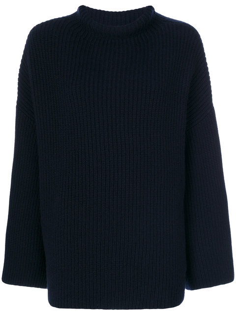 THE ROW Ribbed Roll Neck Jumper