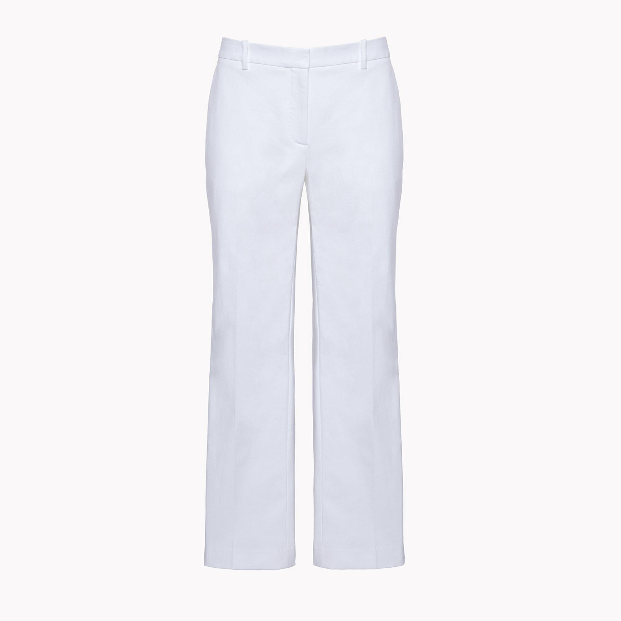 THEORY Slim Crop Pant - White