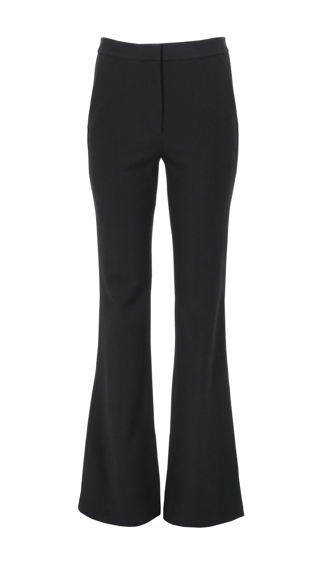 TIBI Anson Stretch Flared Pants in Ivory