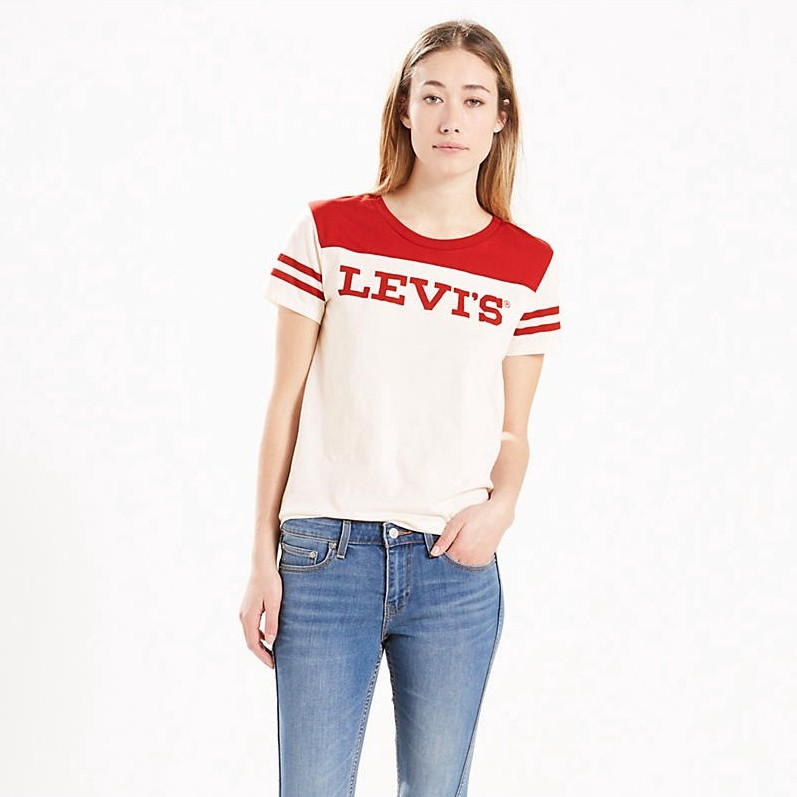 LEVI'S The Perfect Graphic Tee - Lover Red Marshmallow