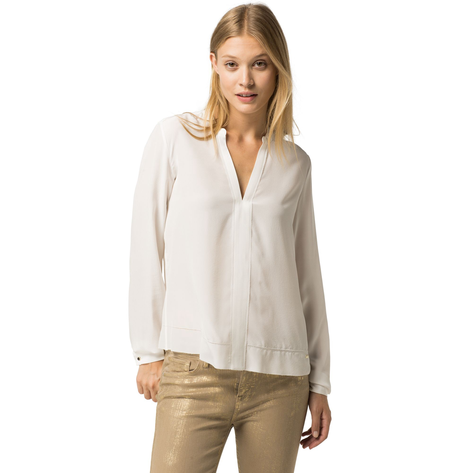 TOMMY HILFIGER Silk Blouse - Snow White