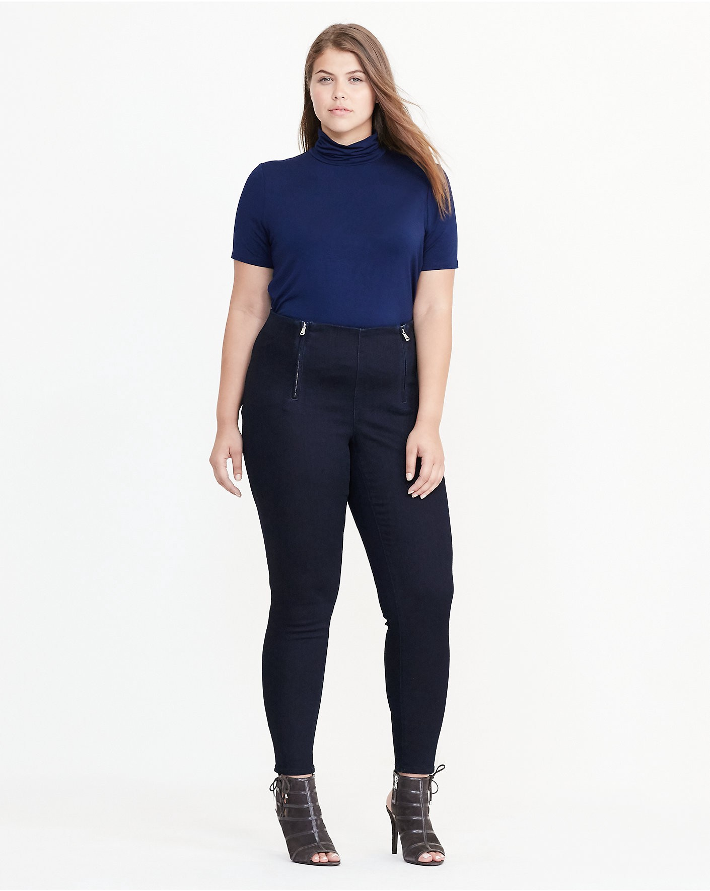 RALPH LAUREN Stretch Cotton Skinny Pant in Ink Wash
