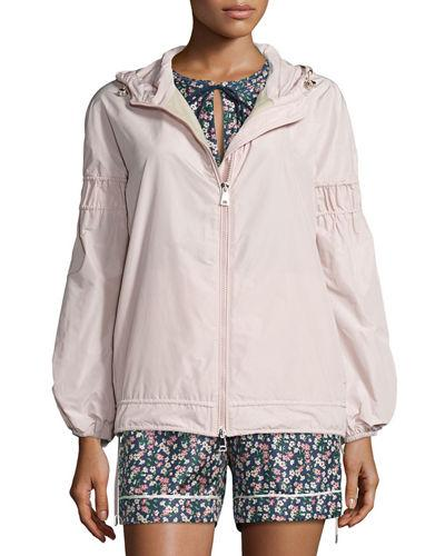 MONCLER Jarosse Hooded Lightweight Jacket, Blush