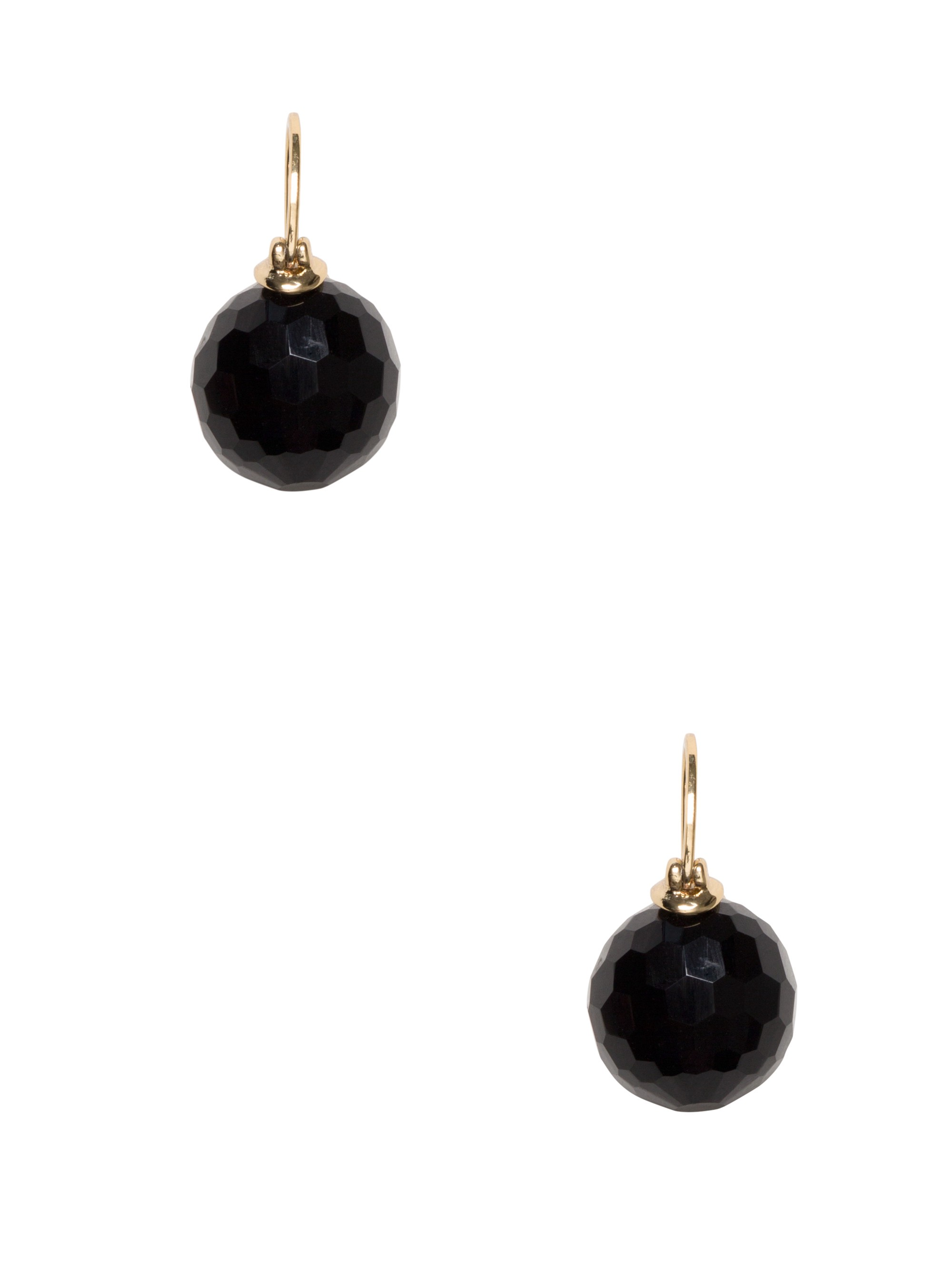 KATE SPADE Shine On Bauble Drop Earrings in Jet