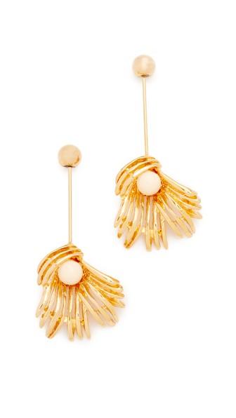 MARNI Sphere & Flower Earrings in Золотистый