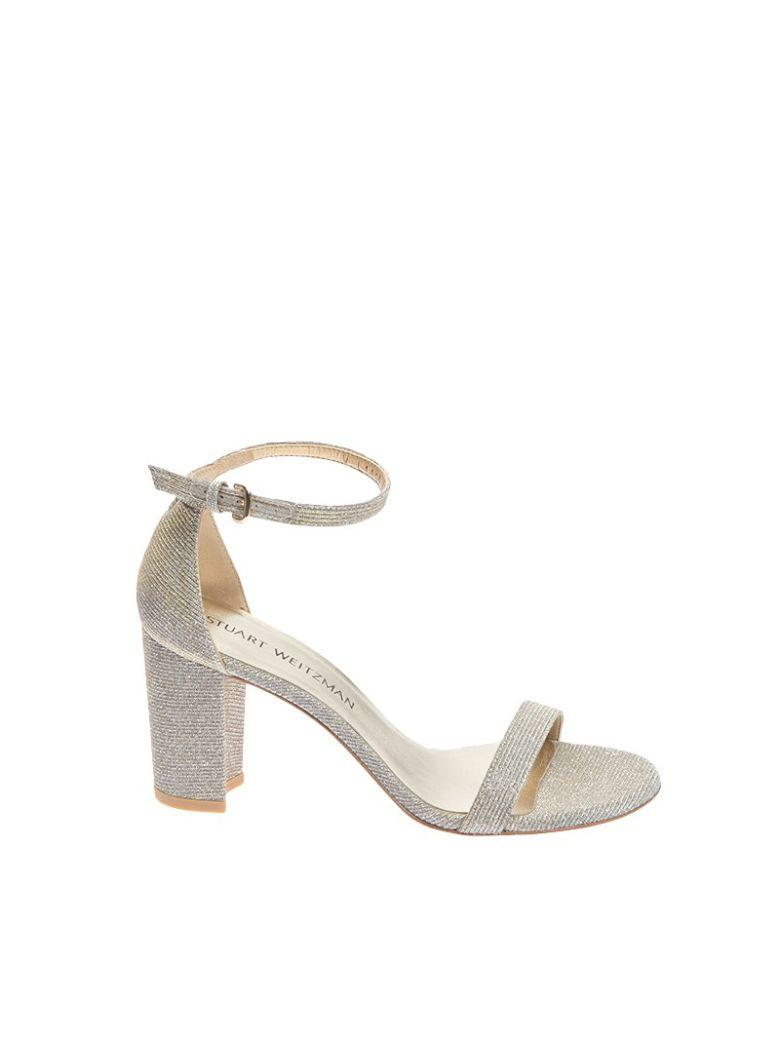 STUART WEITZMAN Nearlynude Sandals in Platinum