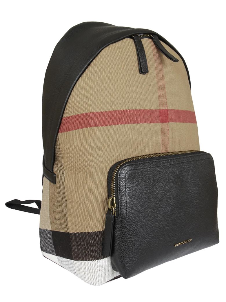 BURBERRY Checked Backpack in Black/Multicolor
