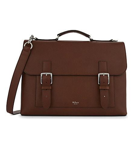 MULBERRY Chiltern Leather Briefcase in Oak