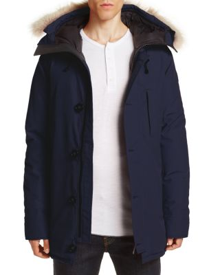 CANADA GOOSE Chateau Parka With Fur Hood in Admiral Blue