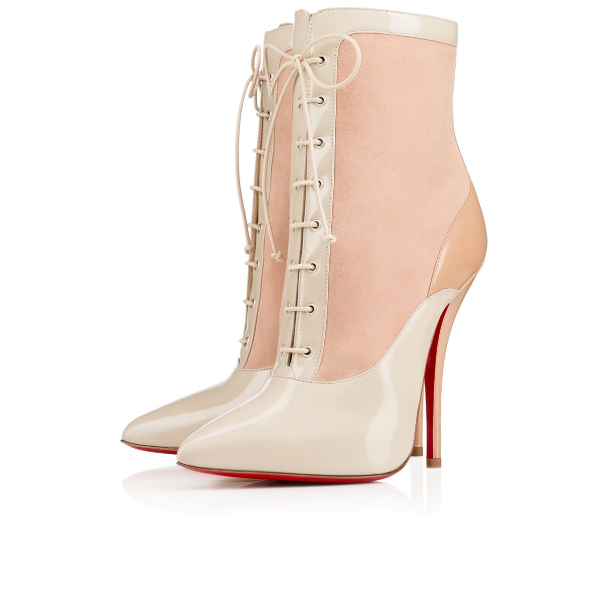 CHRISTIAN LOUBOUTIN Lady Tucson 120Mm Nude Jazz Leather at Christian Louboutin