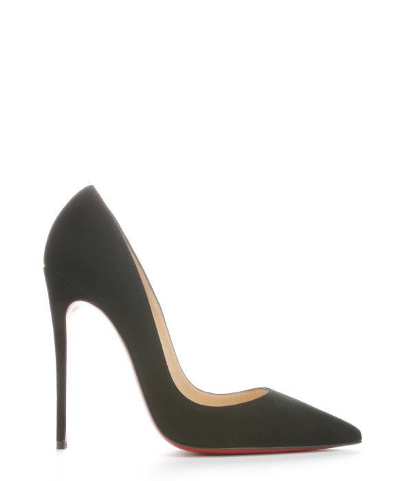 CHRISTIAN LOUBOUTIN Black Suede 'So Kate' Stiletto Pumps at Bluefly