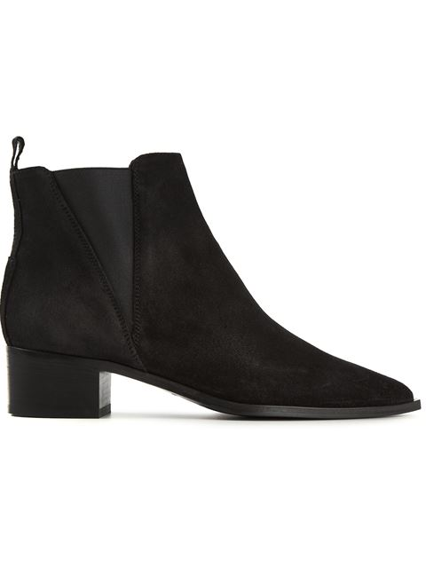 ACNE STUDIOS Jensen Pointy-Toe Ankle Boot, Black at Farfetch