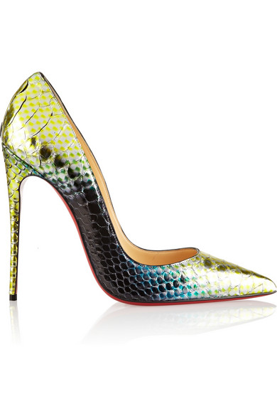 CHRISTIAN LOUBOUTIN So Kate Python Mermaid Red Sole Pump at NET-A-PORTER