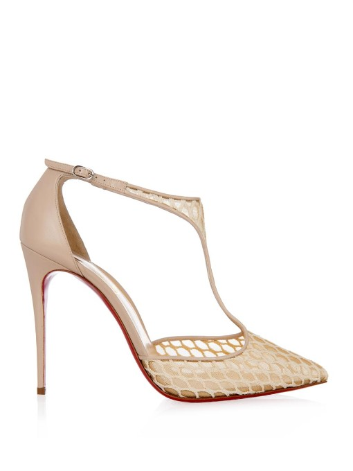 CHRISTIAN LOUBOUTIN Salonu 100 Embroidered Mesh And Leather Pumps at MATCHESFASHION.COM
