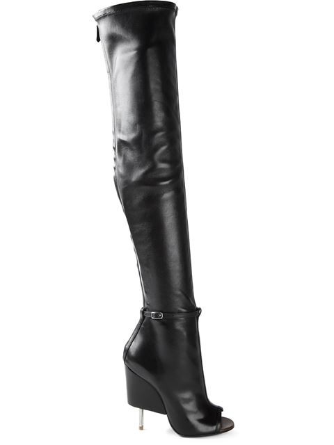 GIVENCHY 115Mm Narlia Stretch Nappa Leather Boots, Black at Farfetch