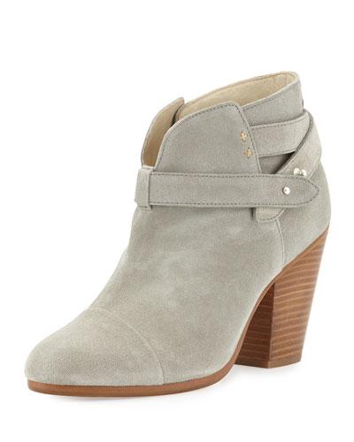 RAG & BONE Harrow Leather Ankle Boot, Light Gray