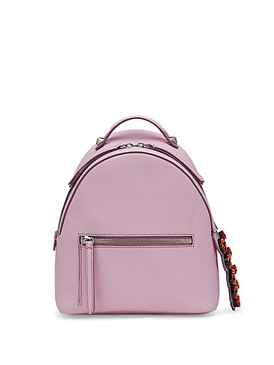 FENDI Leather Backpack W/ Crystal Tail Detail, Pink at Saks Fifth Avenue