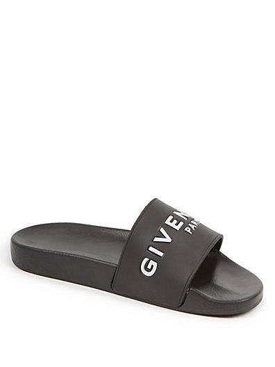 GIVENCHY 20Mm Logo Embossed Rubber Slide Sandals, Black at Saks Fifth Avenue