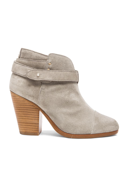 RAG & BONE Harrow Leather Ankle Boot, Light Gray at FORWARD