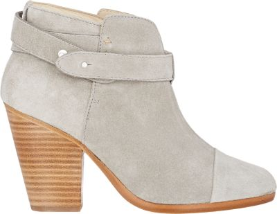 RAG & BONE Harrow Leather Ankle Boot, Light Gray at BARNEYS