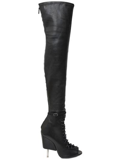 GIVENCHY 115Mm Narlia Stretch Nappa Leather Boots, Black at LUISAVIAROMA