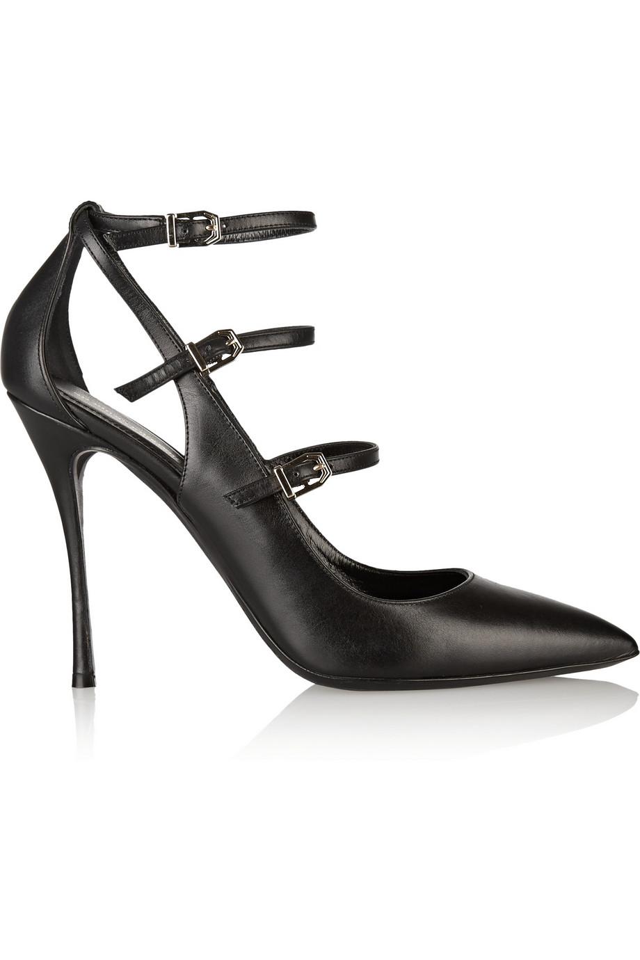 NICHOLAS KIRKWOOD Black Multi Strap Leather Heels at THE OUTNET.COM