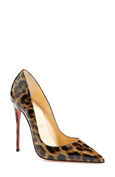 CHRISTIAN LOUBOUTIN So Kate Patent Red Sole Pump, Brown/Leopard at Nordstrom
