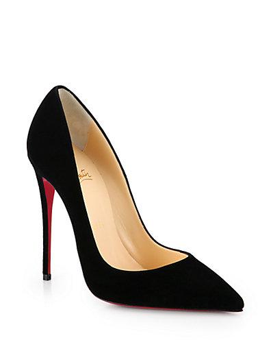 CHRISTIAN LOUBOUTIN Black Suede 'So Kate' Stiletto Pumps at Saks Fifth Avenue