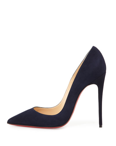 CHRISTIAN LOUBOUTIN Midnight Blue Suede 'So Kate 120' Stiletto Pumps
